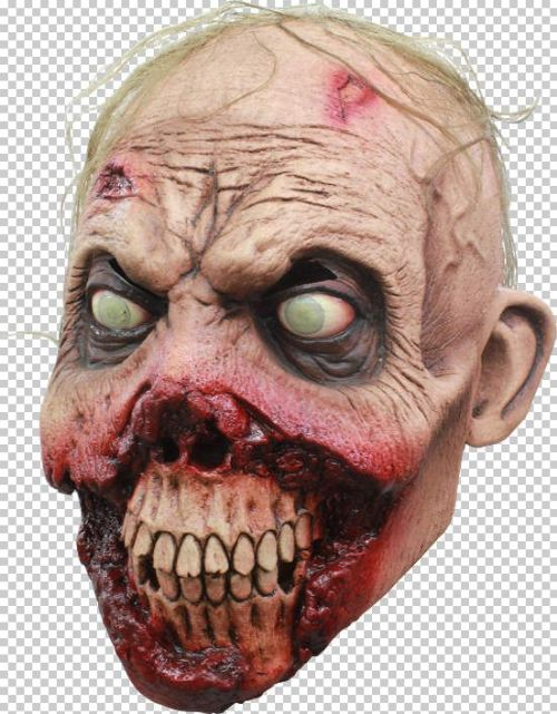 Mask Head Zombie Rotten Gums Guillotine Halloween Zombie Body Prop